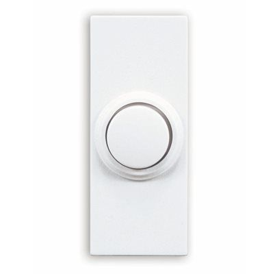 Utilitech Wireless White Doorbell Push Button (Batteries Included)