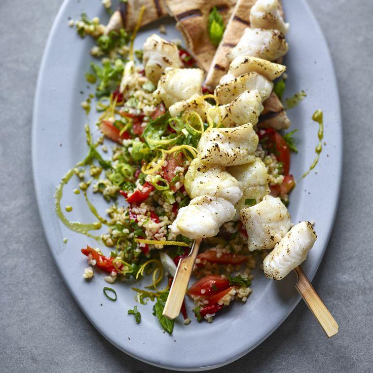 Joe Wicks' Monkfish Kebabs With Tabbouleh - Woman And Home