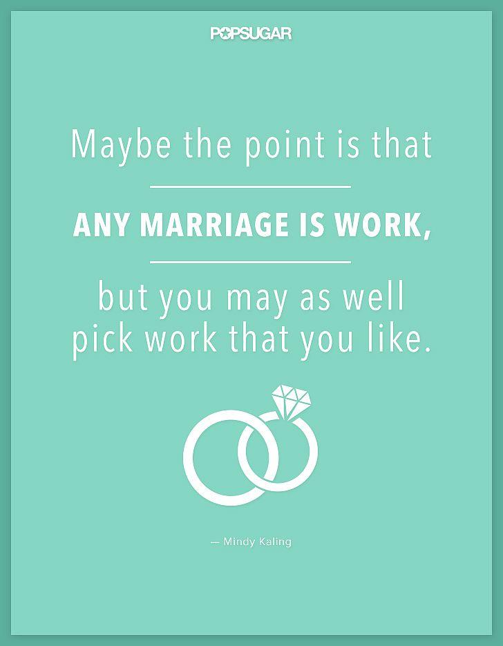 Mindy Kaling on marriage