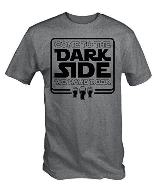 Star Wars Dark Side Beer Shirt :https://www.hopsapparel.com/star-wars-dark-side-beer-shirt/