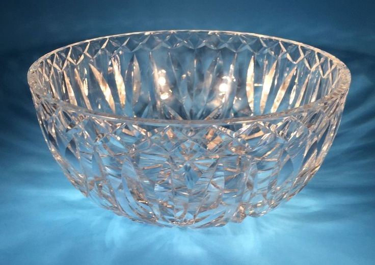 """Vintage Waterford Crystal Cut Large Bowl 8"""" Old Gothic Mark #Waterford"""