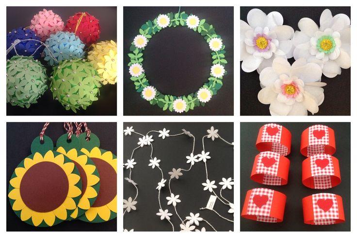 INSPIRATION Blomsterkugler med løkke, blomsterkrans, blomster til bordpynt, solsikketags, blomsterguirlande og servietringe. www.jannielehmann.dk