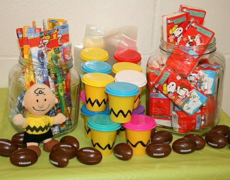 Charlie Brown goodie bag station