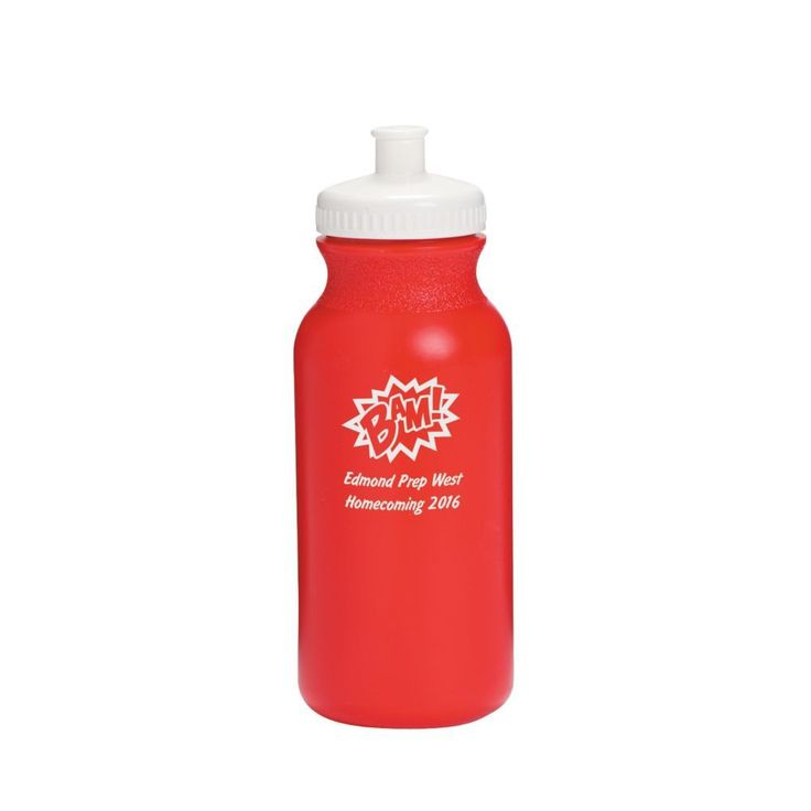 Opaque Red Superhero Personalized Water Bottles - 20 oz.