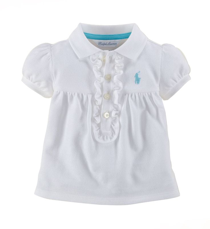 Ralph Lauren Baby Girl Cotton Mesh Polo White. Dress your little bundle of joy in this cult polo shirt from Ralph Lauren. Crafted from soft 100% cotton What a great addition to any baby girl's wardrobe. Also makes a great present! http://www.brandsforkids.com.au/collections/baby-girl/products/copy-of-ralph-lauren-baby-girl-cotton-mesh-polo-white