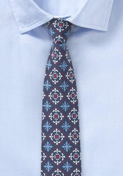 Moderne Baumwoll-Krawatte mit klassischem Design
