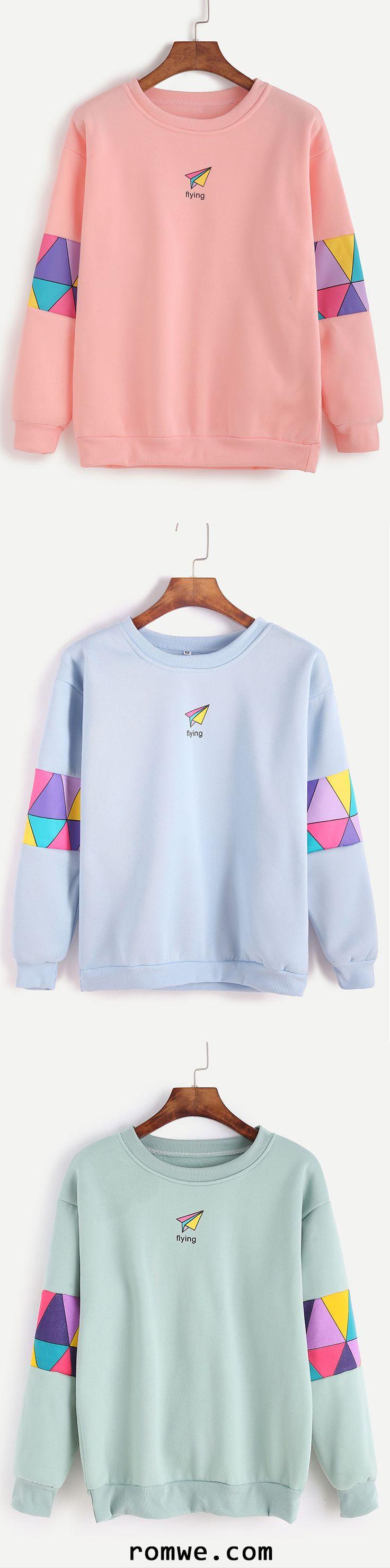 Patchwork Print Sweatshirt