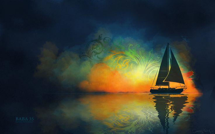 Sail boat art | Sailboat Art Freebies | Courtney Kirchoff