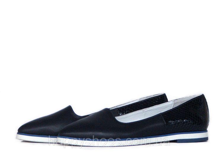 """Синие кожаные туфли - купить по лучшей цене в Запорожье от компании """"HappyShoes"""" - 505882602"""