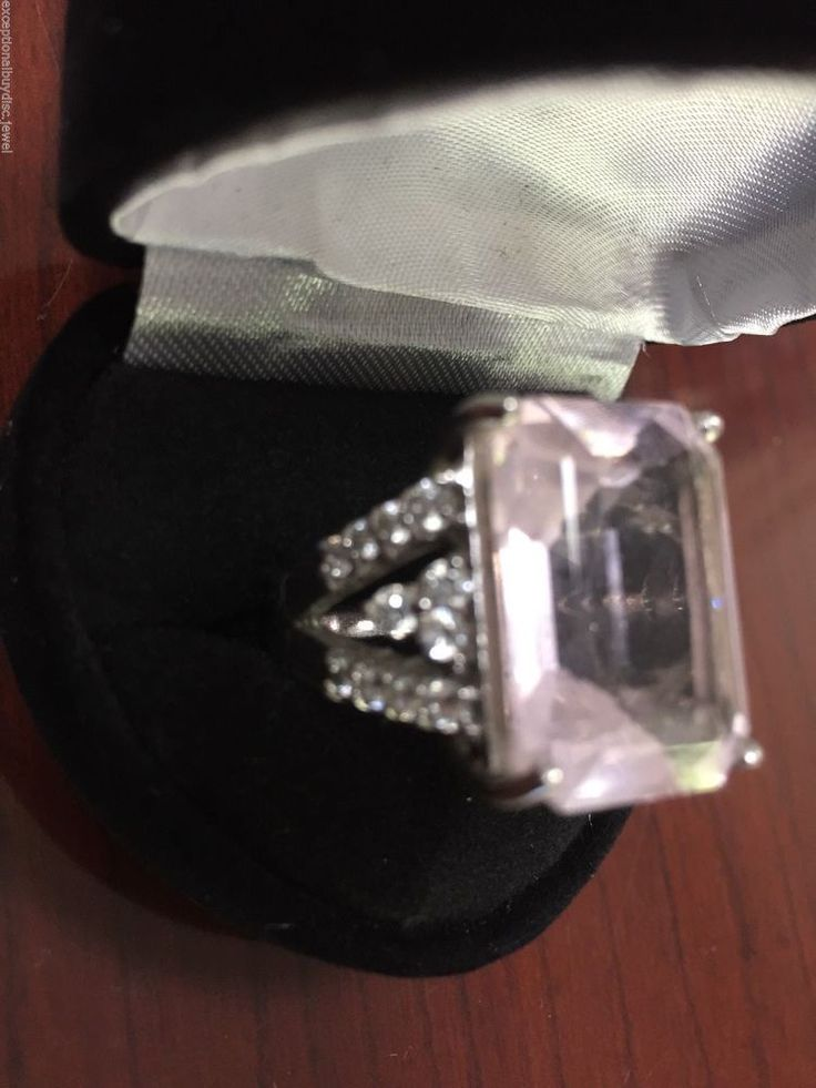 15.00CTW MORGANITE & WHITE SAPPHIRE WEDDING RING SIZEABLE SZ 8 LAST ONE! #SolitairewithAccents