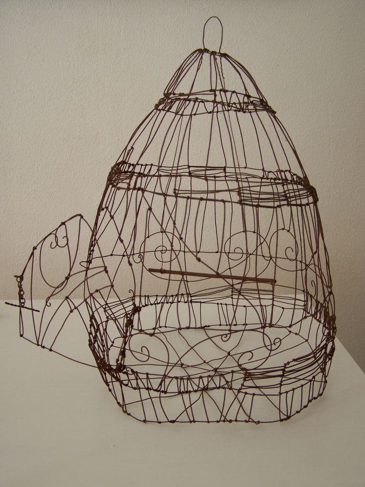 wire birdcage -  by Nicole Bolze ORIGINALS