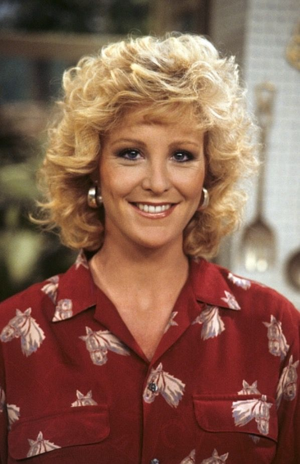 Joanna Kerns On The Set Of Growing Pains In 1987 Ashley