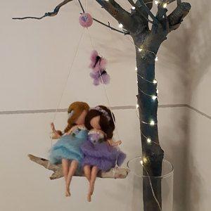 Mutter-Tochter-Figur – Mutter-Skulptur – Nadel gefilzte Puppe – Muttertagsgeschenk von Tochter – gefilzte Wollpuppen