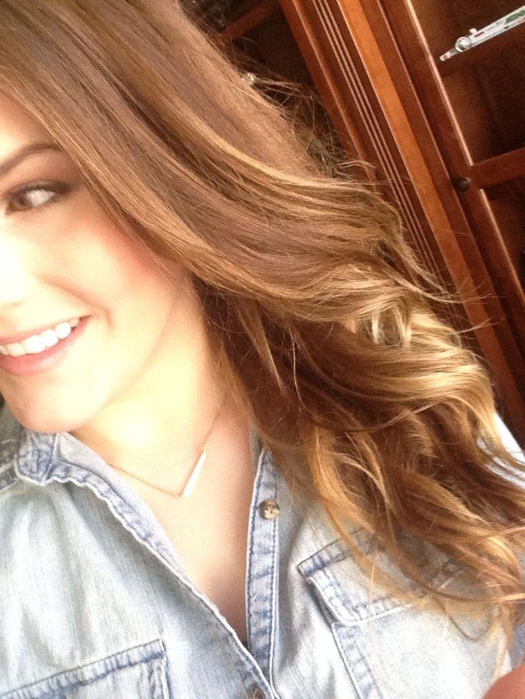 Honey dipped my hair via the Jessica James Decker tutorial IG: elynnmakeup