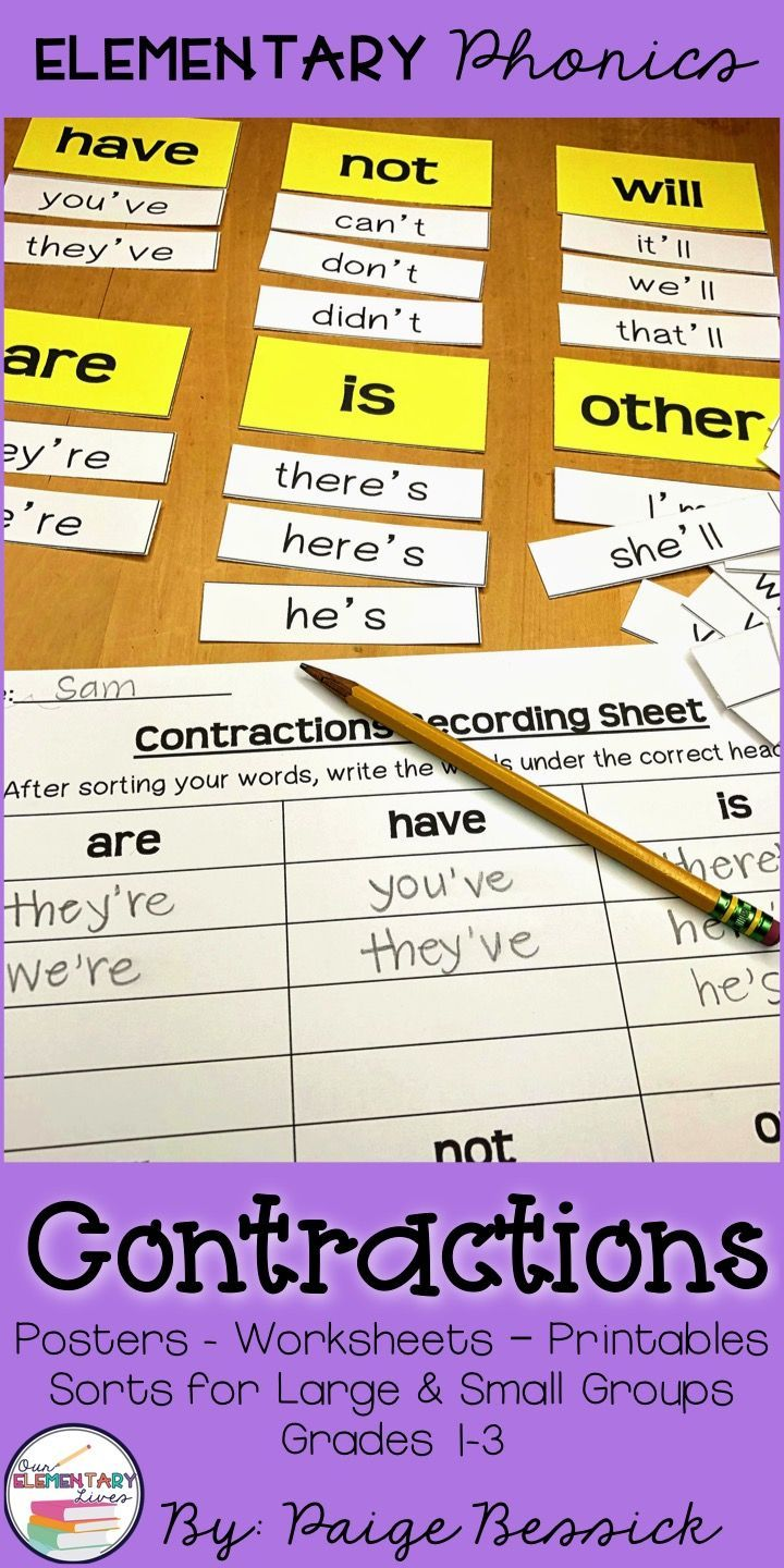 Teaching Contractions Can Be Tough Not With This Resource Elementary Phonics Are Perfect For Teaching Any Phonic Elementary Phonics Phonics Lessons Phonics How to teach first additional language