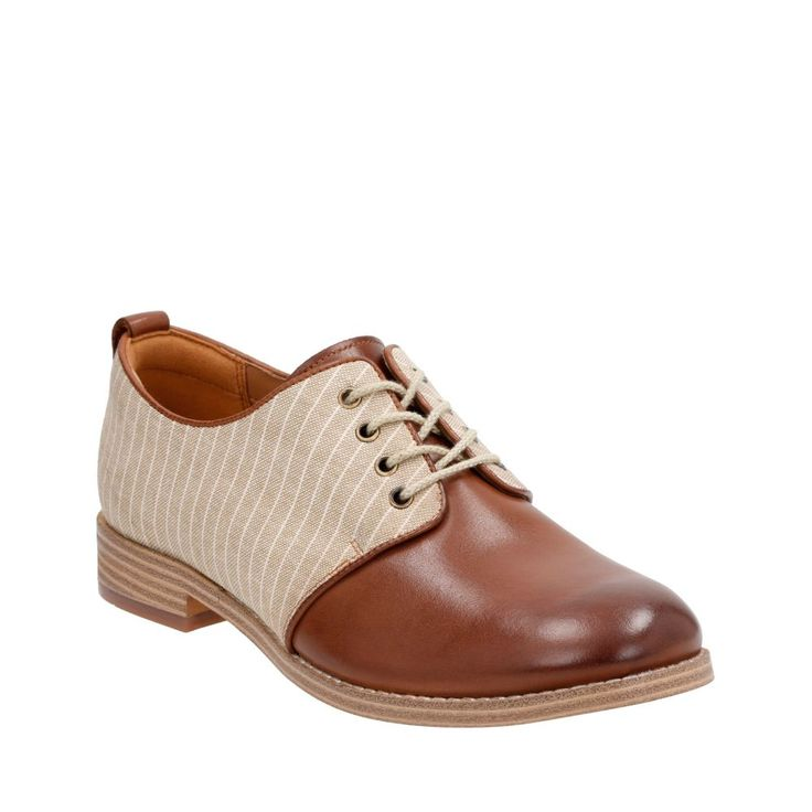 Zyris Toledo Dark Tan Leather/Fabric Combi womens-casual-shoes