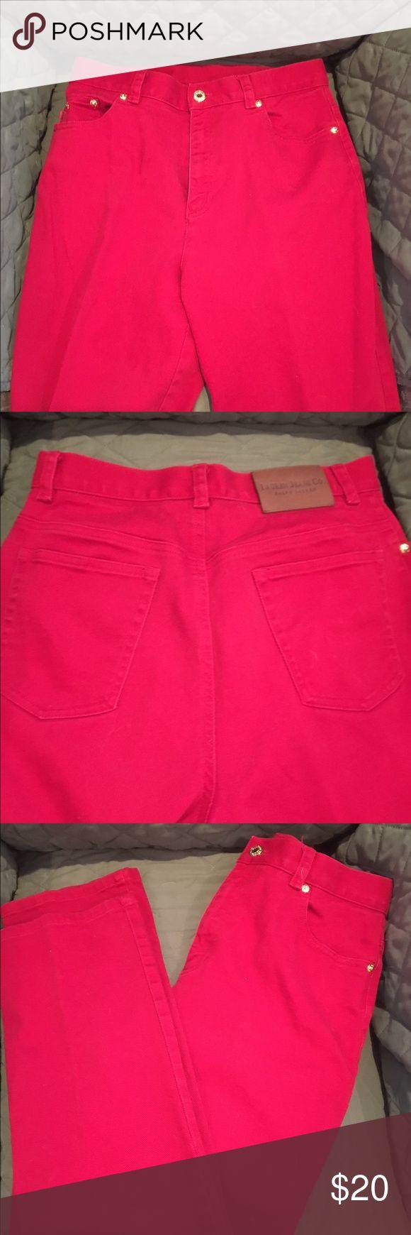 Ralph Lauren red trousers Ralph Lauren red trousers. Jeans cut. Size 6 Ralph Lauren Jeans Straight Leg