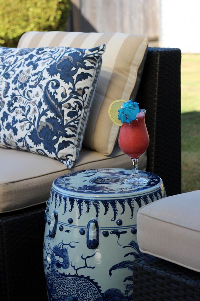 Love The Garden Stool~ Original Posted By Marcus Design: {our Mini Patio  Project}