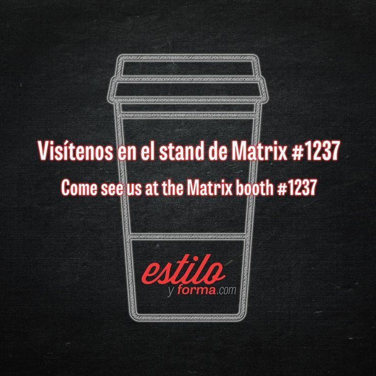 Qué estilista no ama el café? Visita #EstiloyForma en el stand de #Matrix para su tarjeta de café gourmet! #ISSELB | What stylist doesn't love #coffee? Visit Estilo at the #Matrix booth for your gourmet coffee card! #ISSELB17