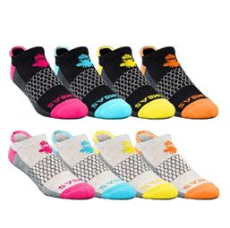 Bombas are the Toms of socks - for each pair purchased, a pair is donated to a homeless shelter. (Bombas is also a Shark Tank product, which is really cool too!)