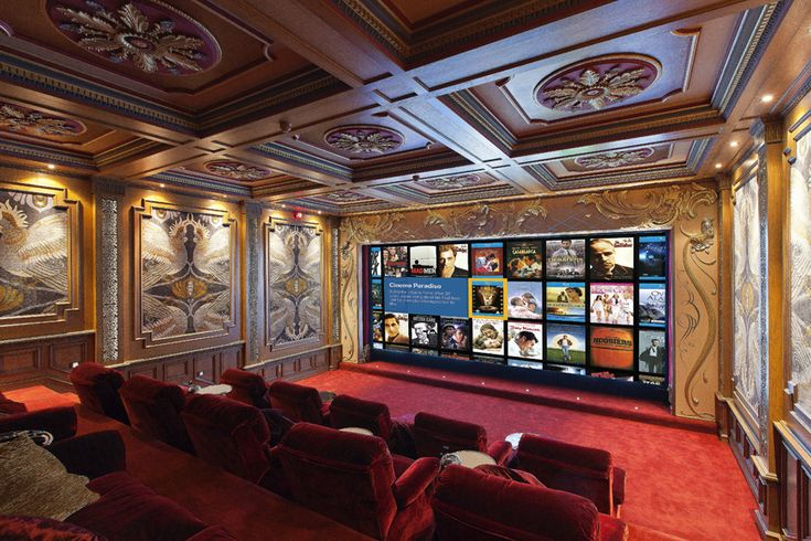 Take a virtual tour of this spectacular, classic home theater | Luxury Screening Room | CEDIA Home Theater Ideas