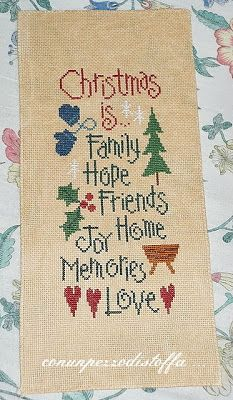 pannello Natale crossstitch