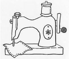 Imagem: desenho feito com traçado preto em fundo branco de uma máquina de…