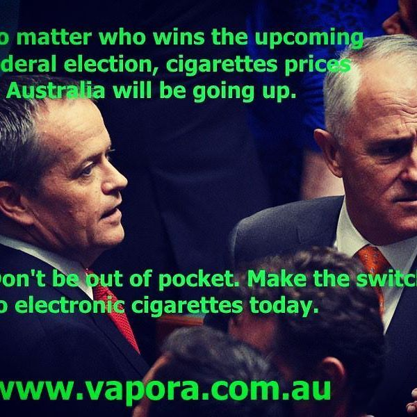 Both sides of politics are intent on slugging smokers even more for a pack of cigarettes. Make the switch to the digital alternative today and save your hard earned cash. Www.vapora.com.au Disclaimer: electronic cigarettes should not be considered theraputic  #budget2016 #aussie #australia #durries #aussievapers #australianpolitics #lifestylechange #stopsmokingstartvaping #smoking #vaporaecigs