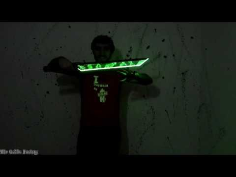 Rune blade with LEDs