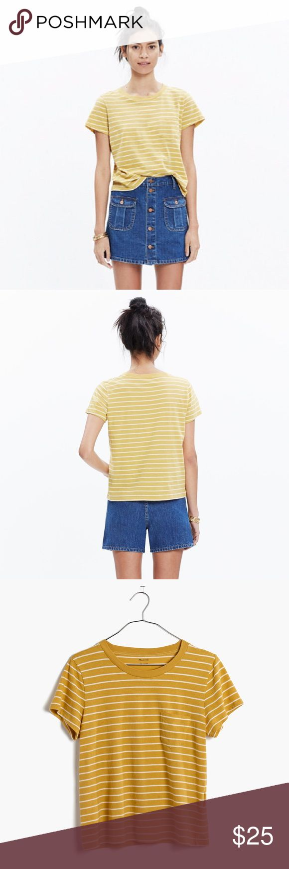 Madewell Radio Tee in Largo Stripe New with tags. Madewell Tops Tees - Short Sleeve