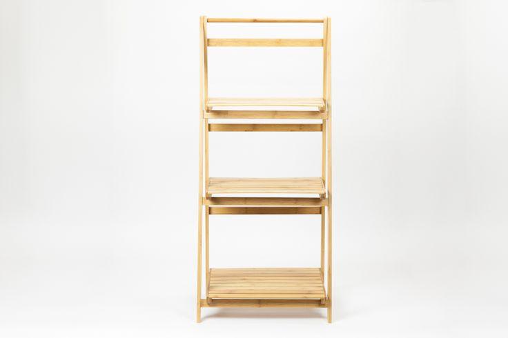 Estante Escada Rebatível Bambu 45 x 33 x 100 cm | A Loja do Gato Preto | #alojadogatopreto | #shoponline | referência 106352652