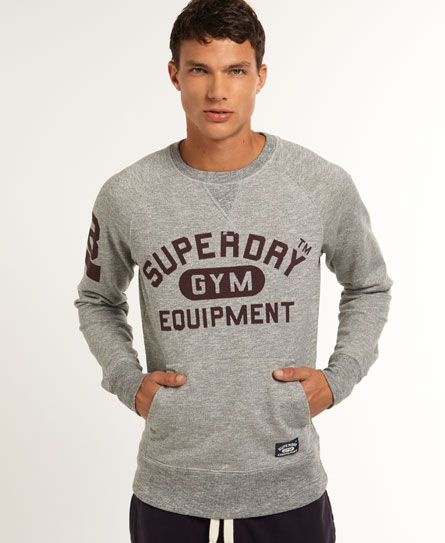 Mens Pommel Crew Sweat in Vault Grey | Superdry