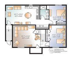 1000 ideas about one bedroom house plans on pinterest - 1 bedroom basement apartment floor plans ...