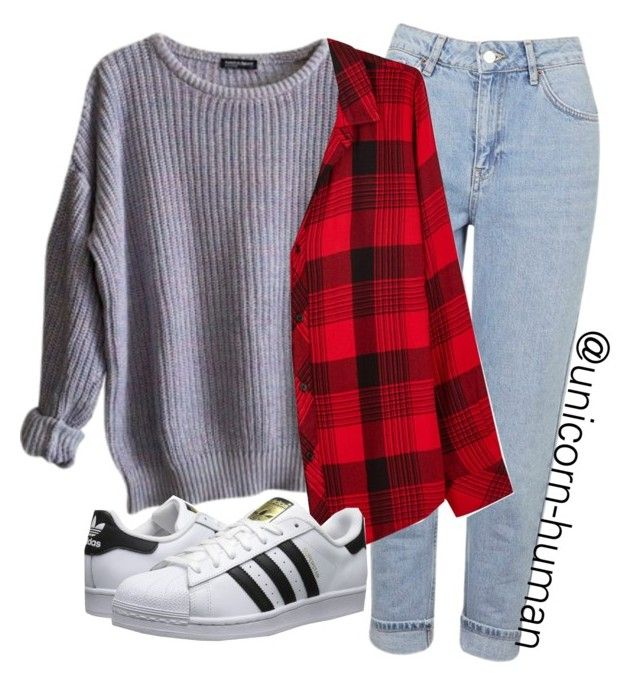 """""""Untitled #1665"""" by unicorn-human ❤ liked on Polyvore featuring American Apparel, Topshop, Rails and adidas Originals"""