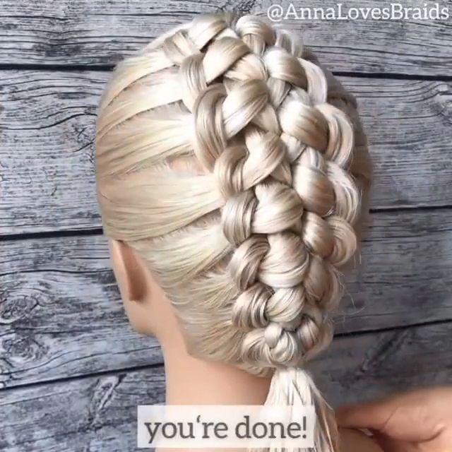 Amazing������������ By: @annalovesbraids #braidedmowhawk