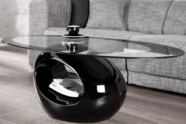 Der Extravagante Couchtisch RING Kombiniert Hochwertiges Tempered Glass Sicherheitsglas Mit Einem Exzellenten