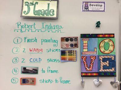 Jamestown Elementary Art Blog: Third-grade Robert Indiana