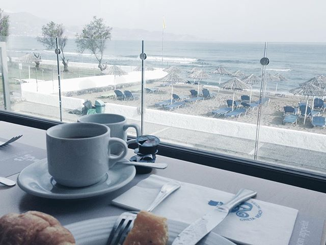 Lovely Morning! #CretaBeach #Crete Photo by @katherinehii