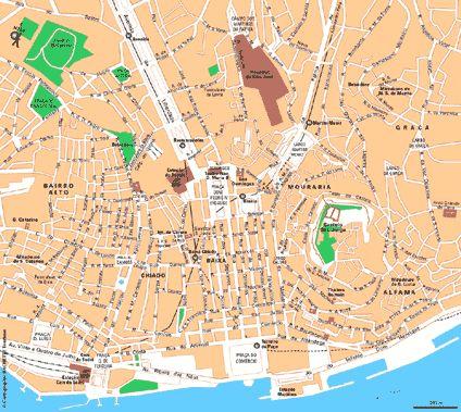 Carte Lisbonne Centre-ville - Plan Lisbonne Centre-ville