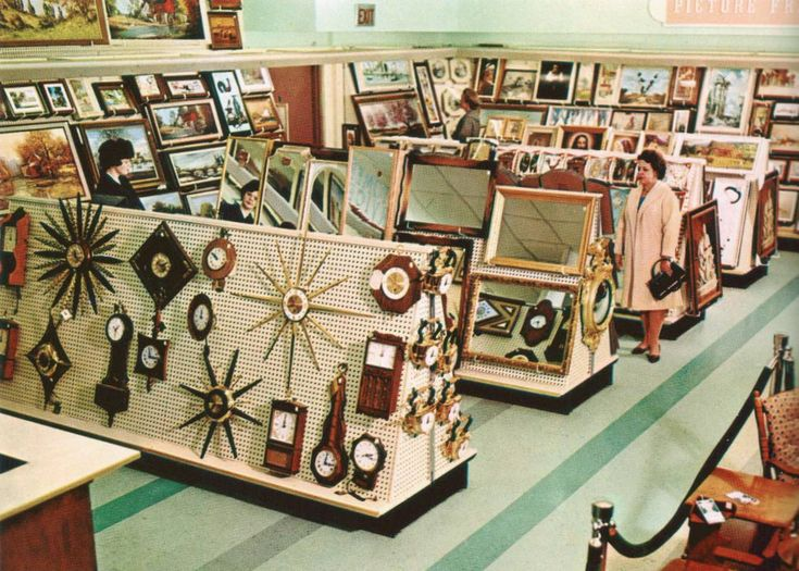 Woolworth's Home Decor Dept., 1964  If I ever get a Wayback Machine, I'm definitely going to Woolworth's!
