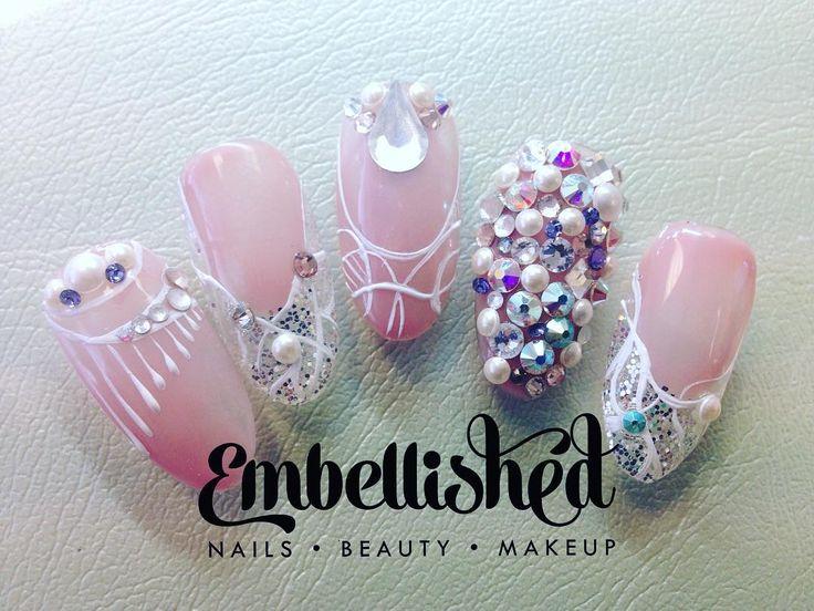 #embellishednails #embellished #nailsbykatey #nailart #brillbirdnz…