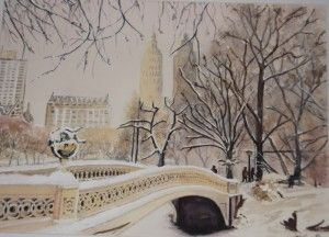 """""""Snow in Central Park"""" by Graham Ibson"""