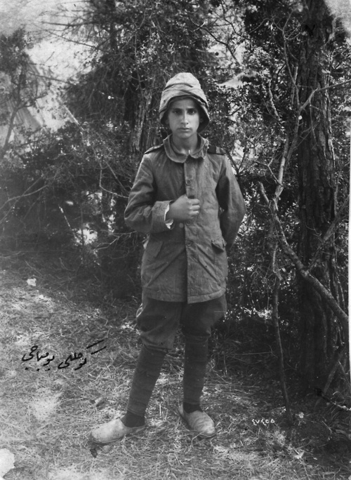 13-year-old volunteer bomber during the Gallipoli campaign, World War I