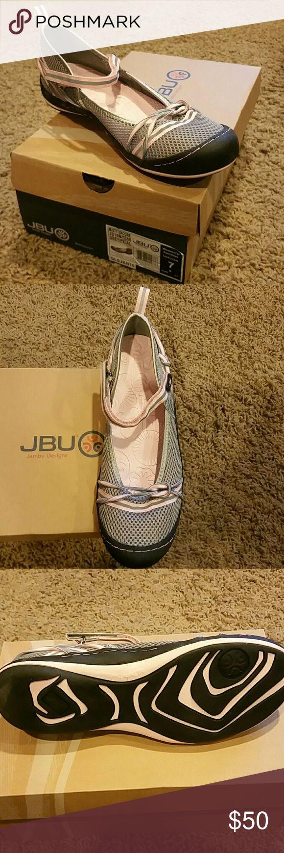 NEW Jambu Aqua Shoes Never worn, new in box Jambu Aqua shoes...great for paddleboarding, snorkeling, scuba, boat wear. Pink and grey. Jambu Shoes Sneakers