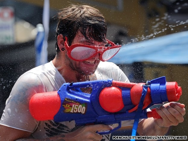 Tourists all over the world enjoy Songkran Festival in Thailand