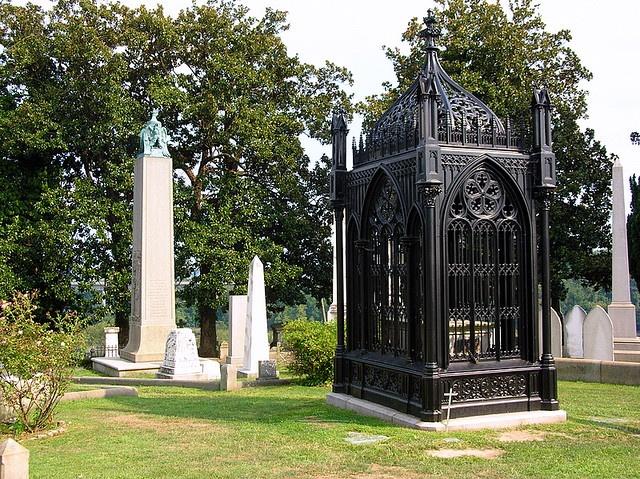#5) James Monroe's gravesite with #10) John Tyler's in the background...Richmond,Virginia