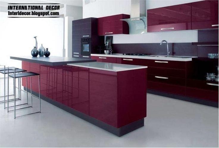 Purple Kitchen interior design 2014