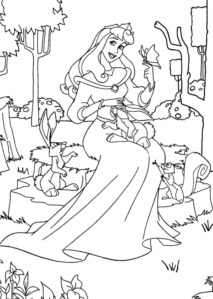 Disney Animal Coloring Book : 17 best images about coloring pages lineart disney sleeping beauty