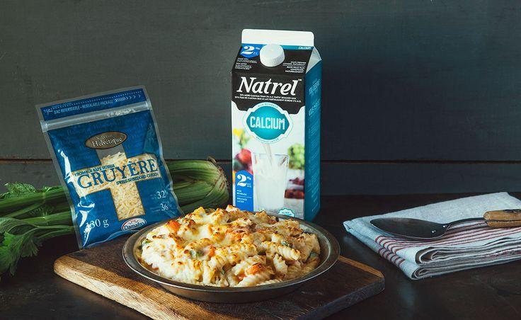 Notre recette de Macaroni au fromage façon pâté à la dinde — Semaine 8 : Le temps des Fêtes | Natrel | Natrel