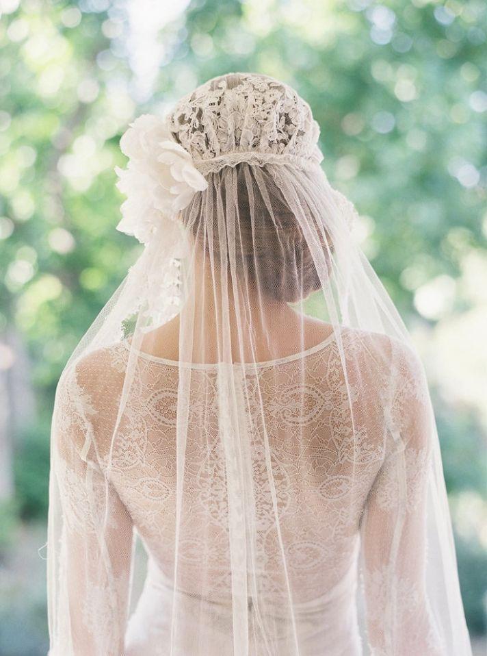 Beautiful Juliet cap wedding veil #bridal #accessories